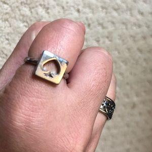 Tory Burch Jewelry - Designer logo ring duo